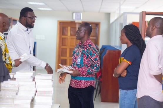 Society for AIDS in Africa (SAA) donates ICASA 2017 Abstract Books to Pentecost University College (PUC)