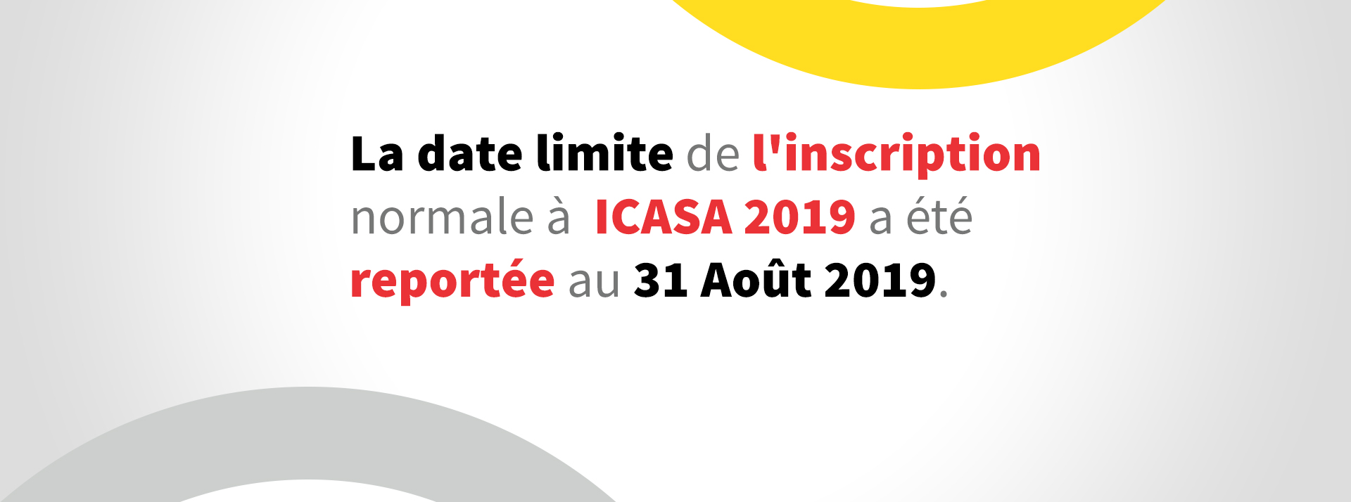 ICASA Regular Registration extended