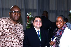 Dr. Ronald Simmons, Dr. Ihab Ahmed (Former SAA President & Dr. Marsha Martin at the ICASA 2017 1st ISC Meeting)