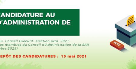 Appel à candidature au Conseil d'Administration de la SAA