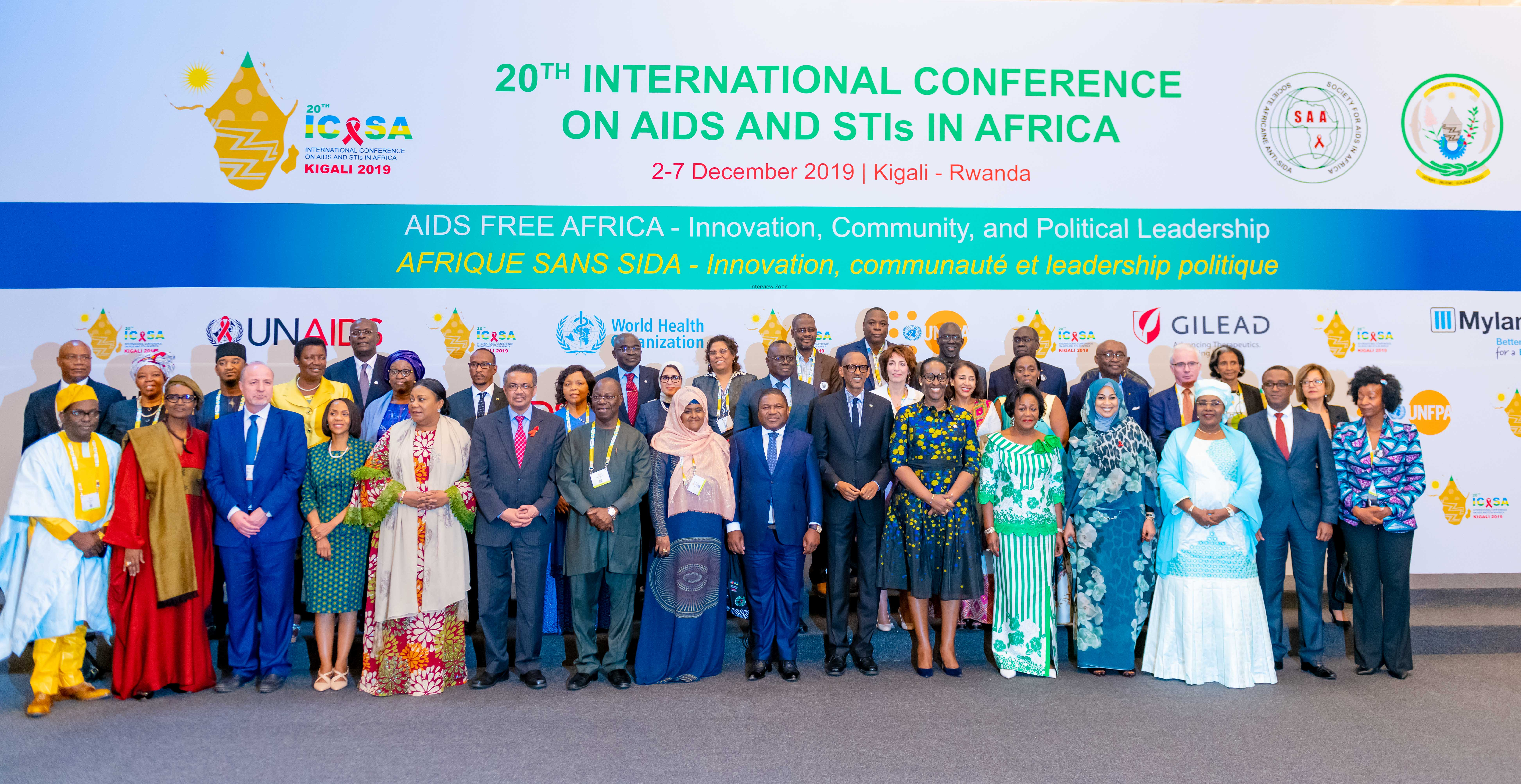 GROUP PHOTO OF ICASA 2019 OPENING CEREMONY SPEAKERS AND INVITED DIGNITARIES